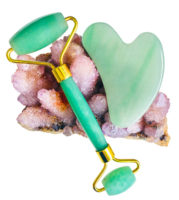 Jade Face Roller and Gua Sha Set