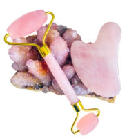 Rose Quartz Face Roller and Gua Sha Set